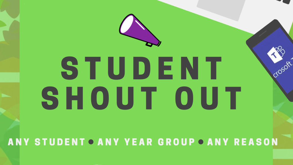 Student Shout Out – Friday 28th February